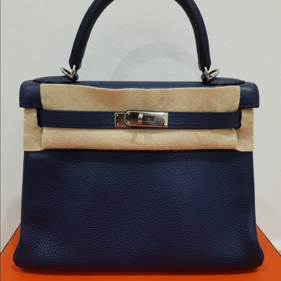 8eefbd4890c0 Hermes kelly 28 Togo bleu encre READ DESCRIPTION